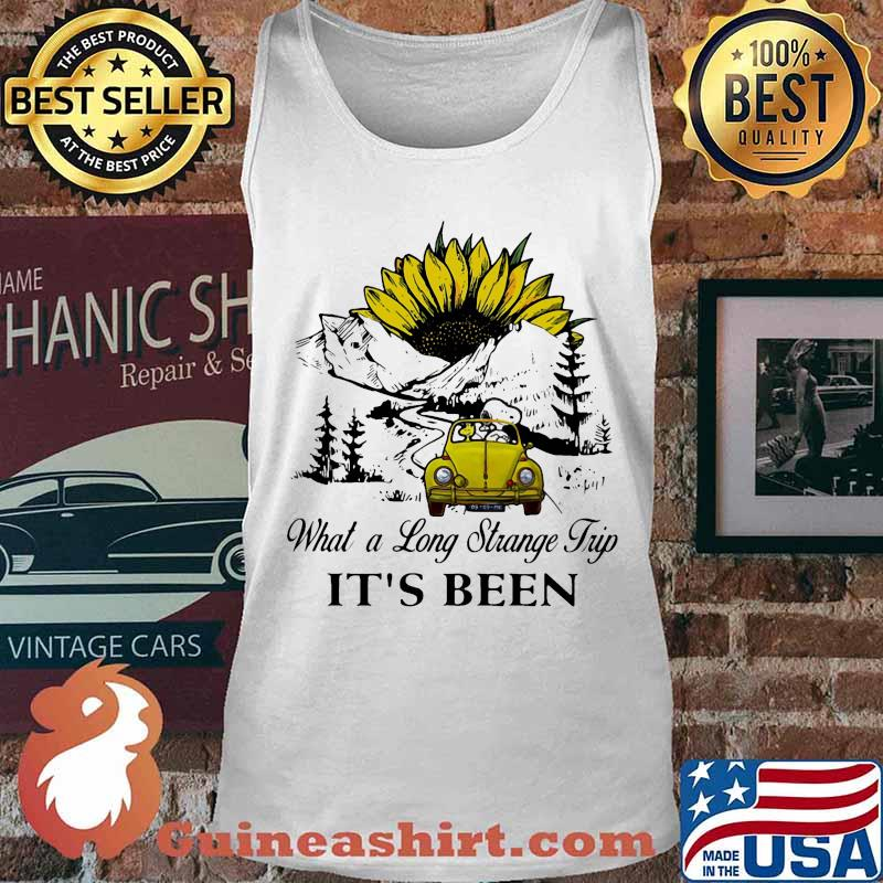 Snoopy and woodstock riding car what a long strange trip it's been sunflower s Tank top