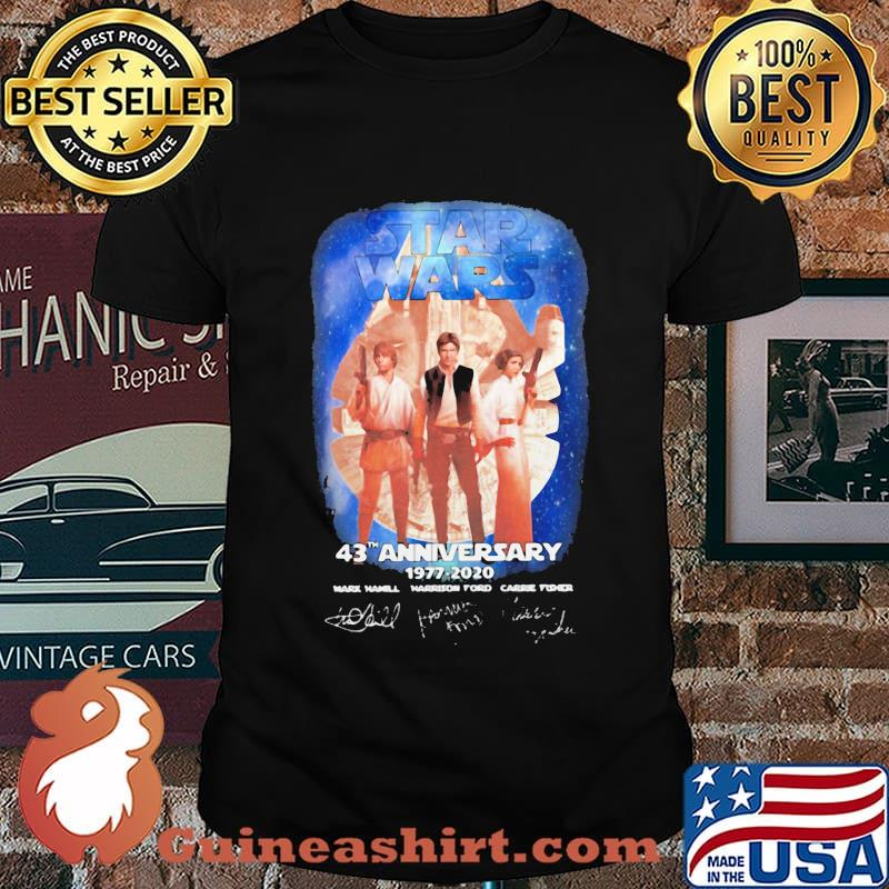 Star wars 43th anniversary 1977 2020 signature vintage shirt