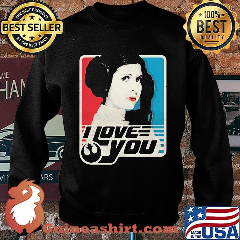 Star wars leia i love you art s Sweater