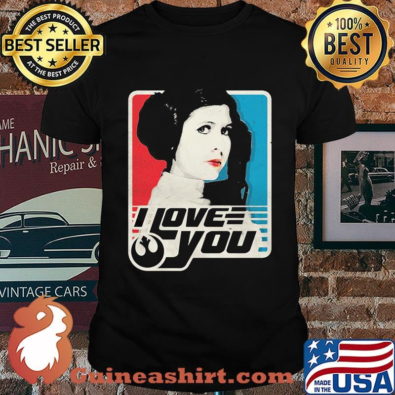 Star wars leia i love you art shirt