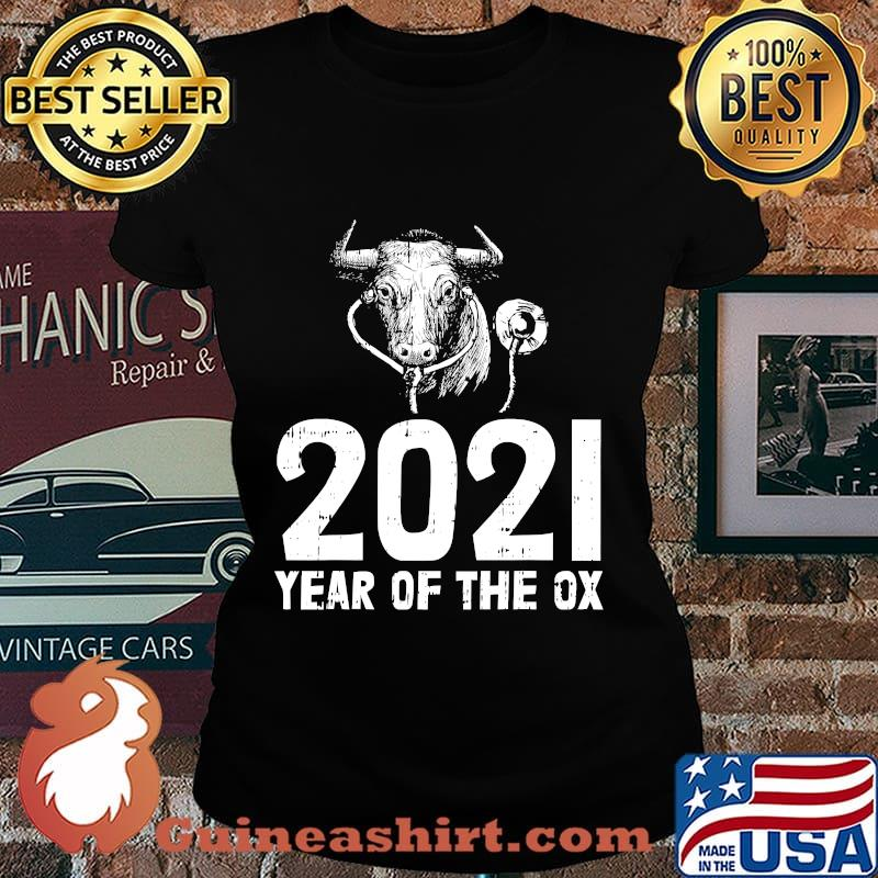 2021 year of the ox nurse new years eve party nursing s Laides tee