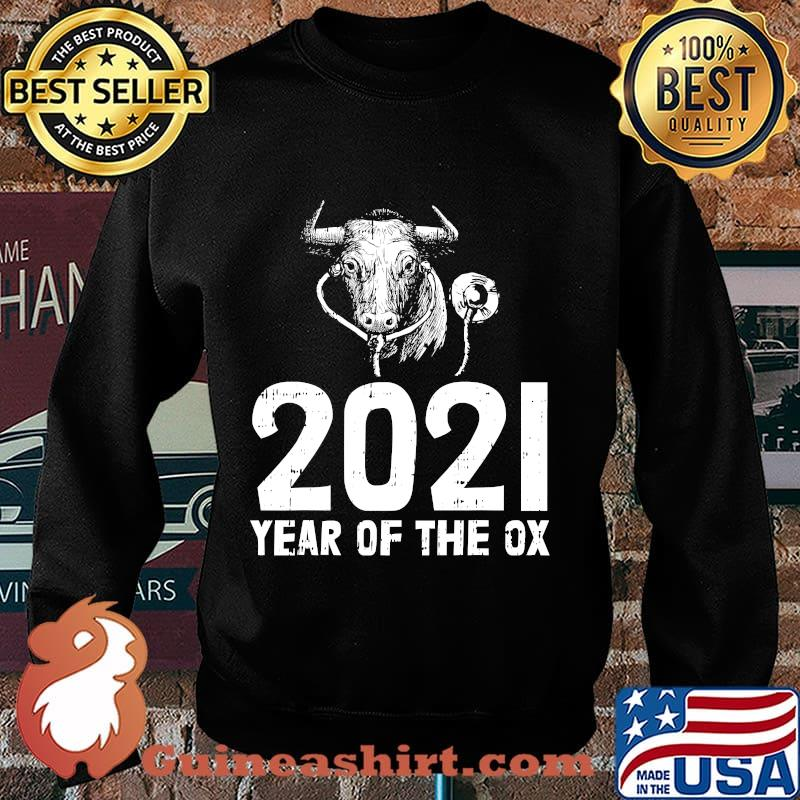2021 year of the ox nurse new years eve party nursing s Sweater
