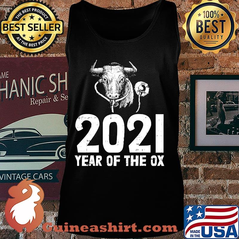 2021 year of the ox nurse new years eve party nursing s Tank top