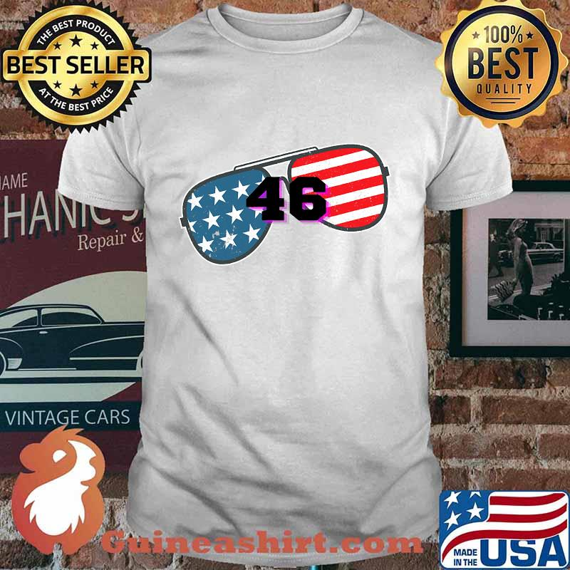Joe biden 46 american flag glass shirt