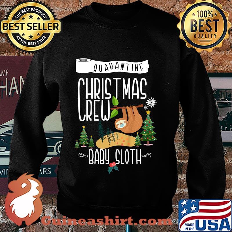 Quarantine christmas crew 2020 baby sloth matching family s Sweater