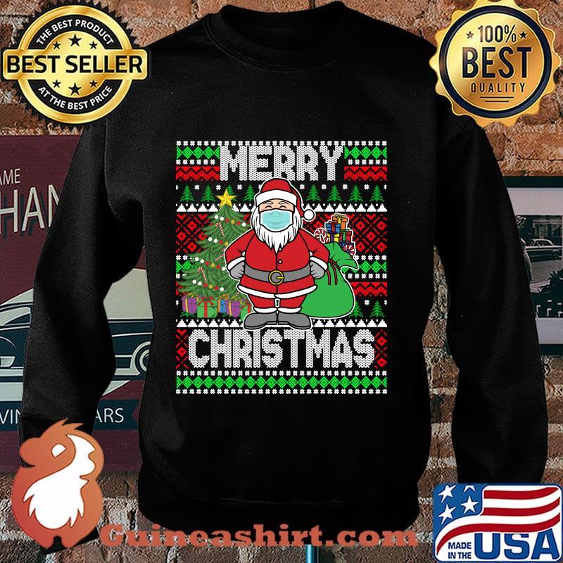 Santa claus wearing mask christmas 2020 s Sweater