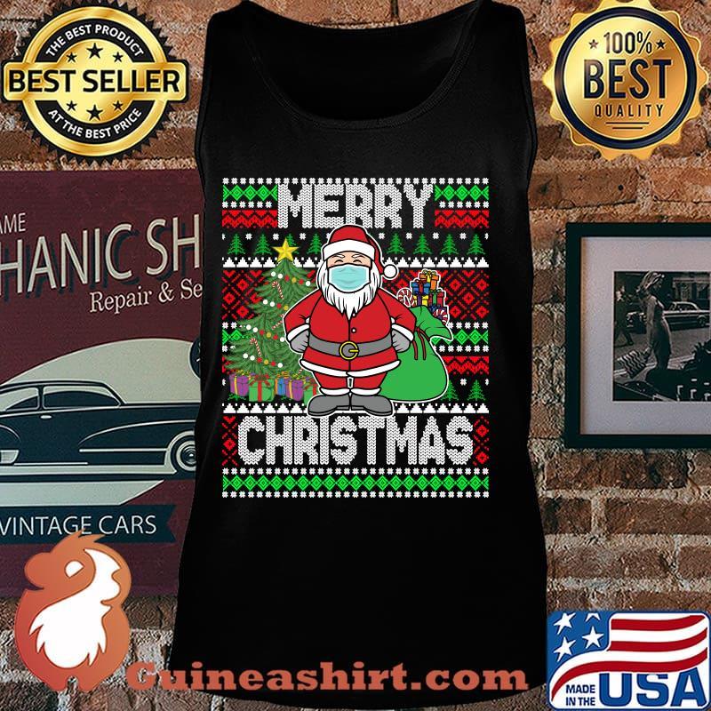 Santa claus wearing mask christmas 2020 s Tank top