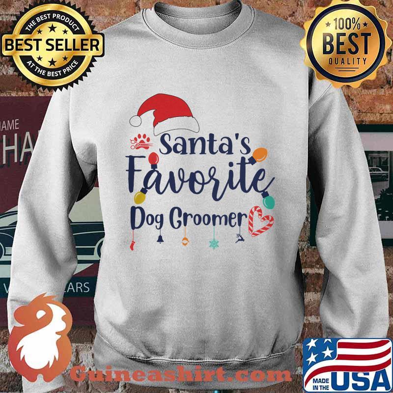 Santa's Favorite Dog Groomer Merry Christmas Shirt Sweater