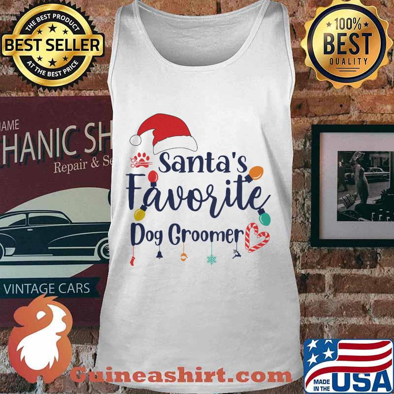 Santa's Favorite Dog Groomer Merry Christmas Shirt Tank top
