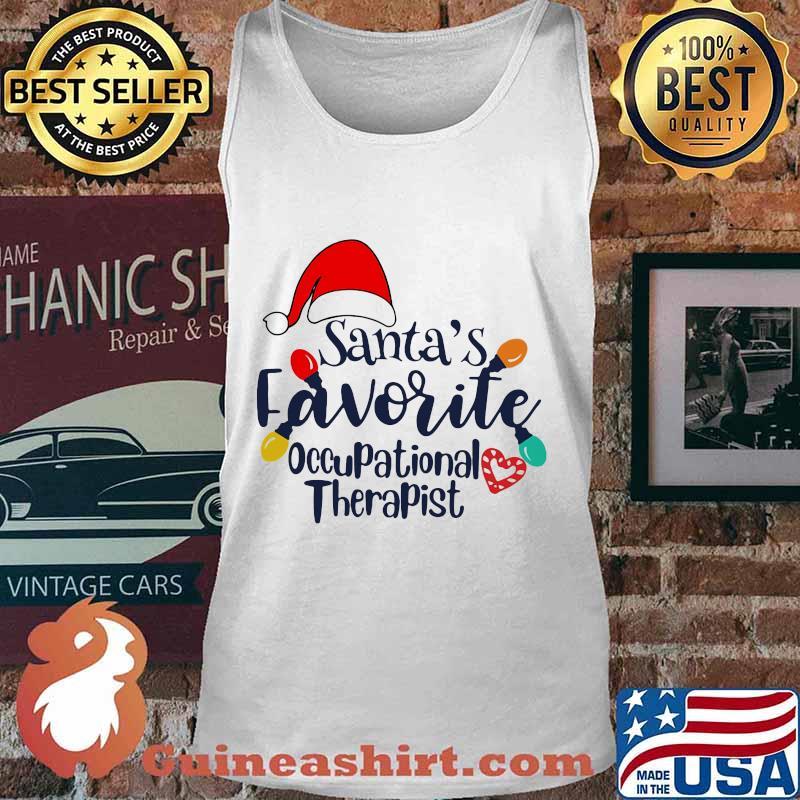 Santa's Favorite Occupational Therapist Merry Xmas Shirt Tank top