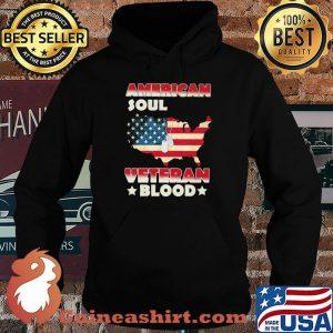 American Soul Veteran Blood American Flag Country Shirt Hoodie