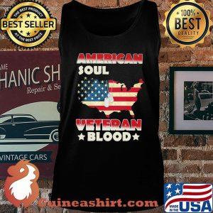 American Soul Veteran Blood American Flag Country Shirt Tank top