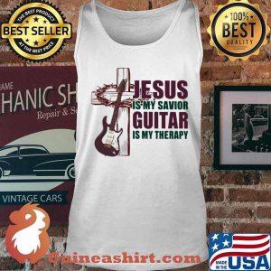 Jesus Is My Savior Guitar Is My Therapy Shirt Tank top