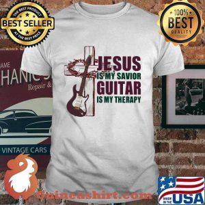 Jesus Is My Savior Guitar Is My Therapy Shirt
