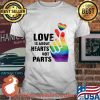 Love Is About Hearts Not Parts LGBT Shirt