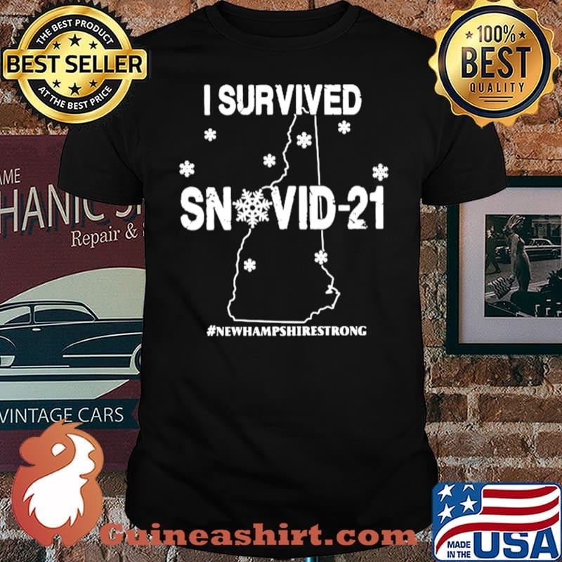 I Survived Snovid 2021 New Hampshire Strong Map shirt