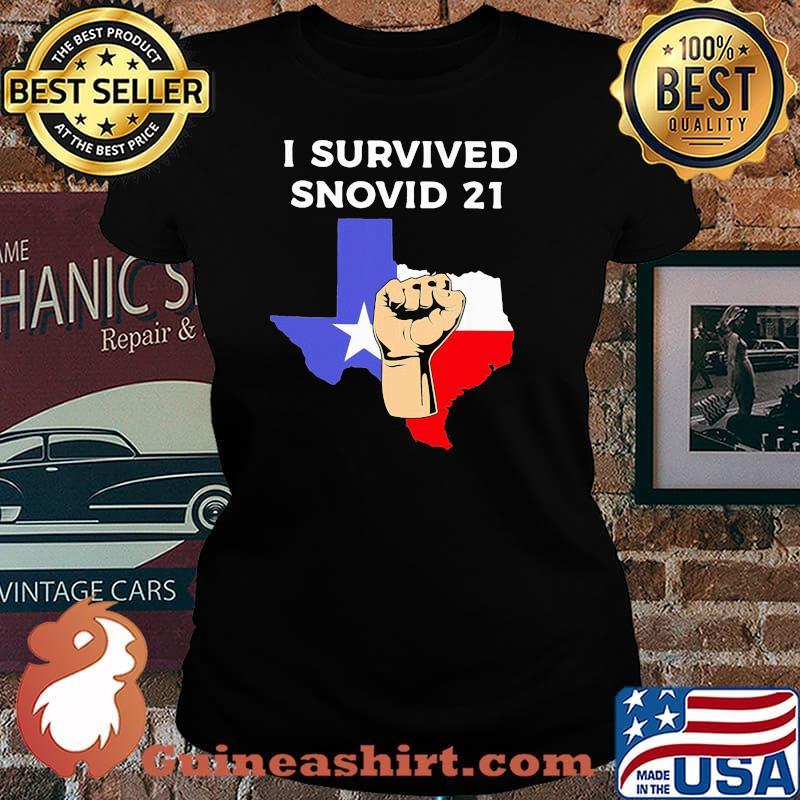 I Survived Snovid 21 Flag Shirt Laides tee