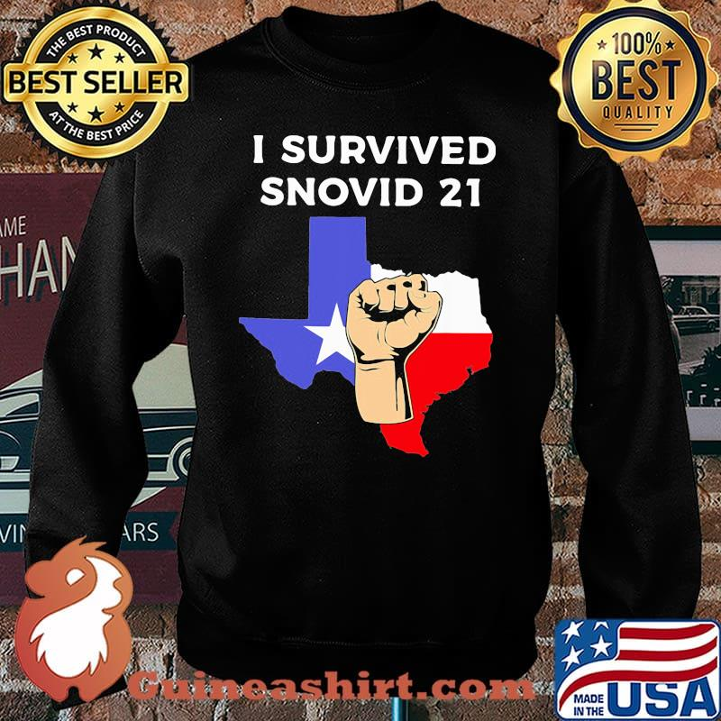 I Survived Snovid 21 Flag Shirt Sweater