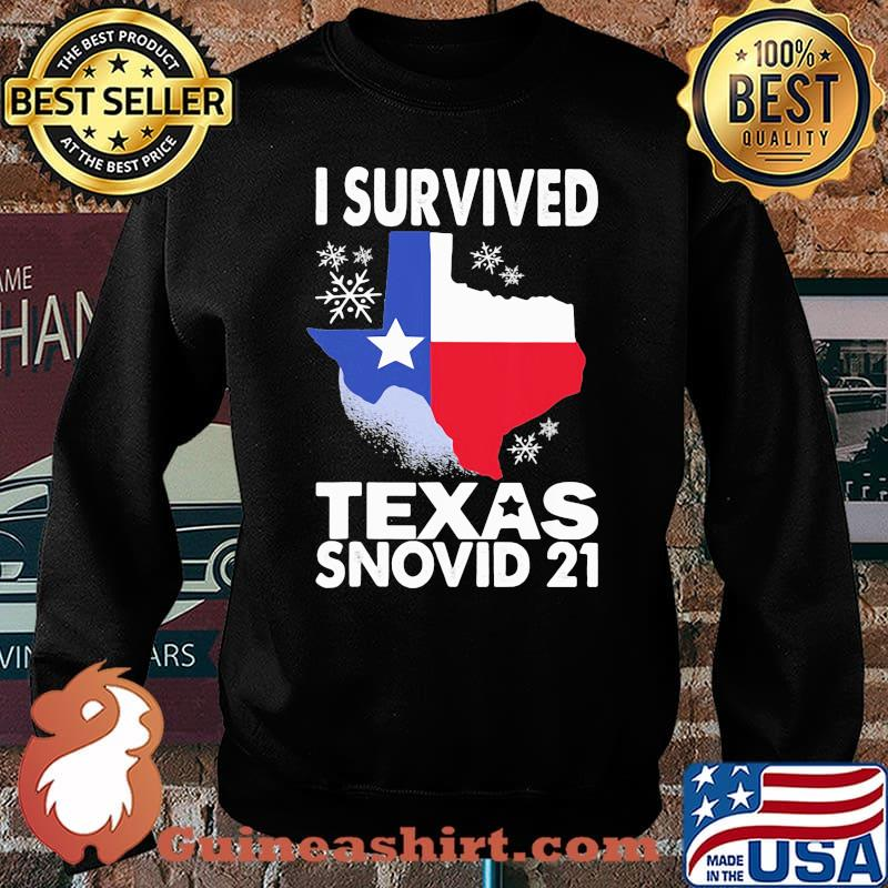 I Survived Texas Snovid 21 Covid 19 Flag Shirt Sweater