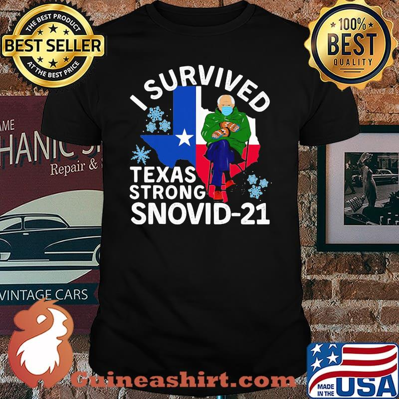 I Survived Texas Strong Snovid 21 Old Man Wear Mask Shirt