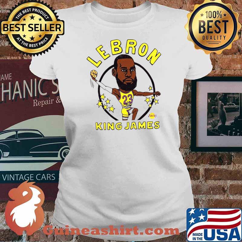 Los Angeles Lakers Lebron King James Ladies tee