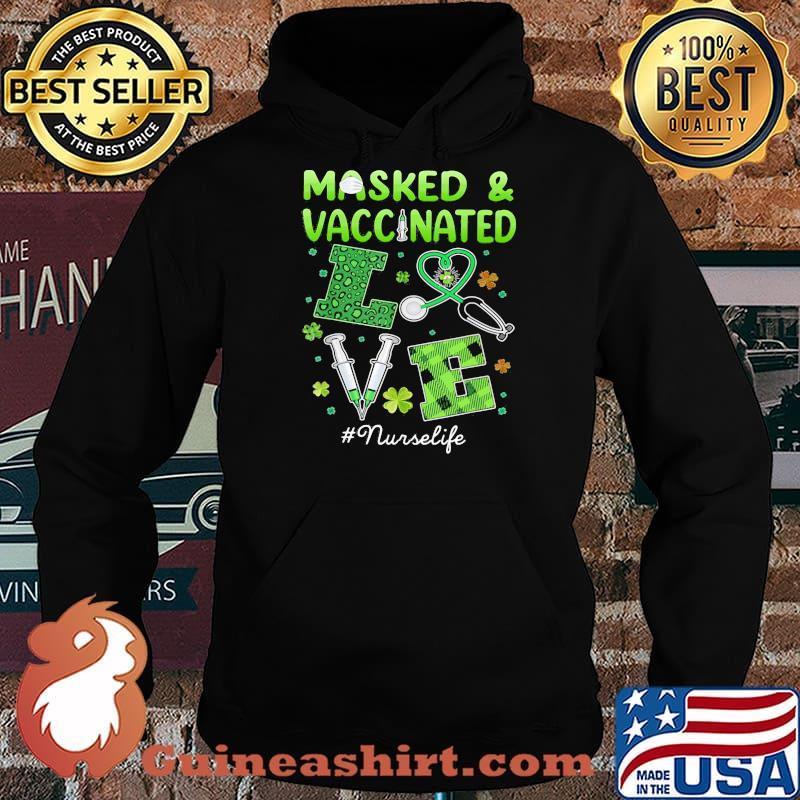 Masked And Vaccinated Love Irish Shirt Hoodie