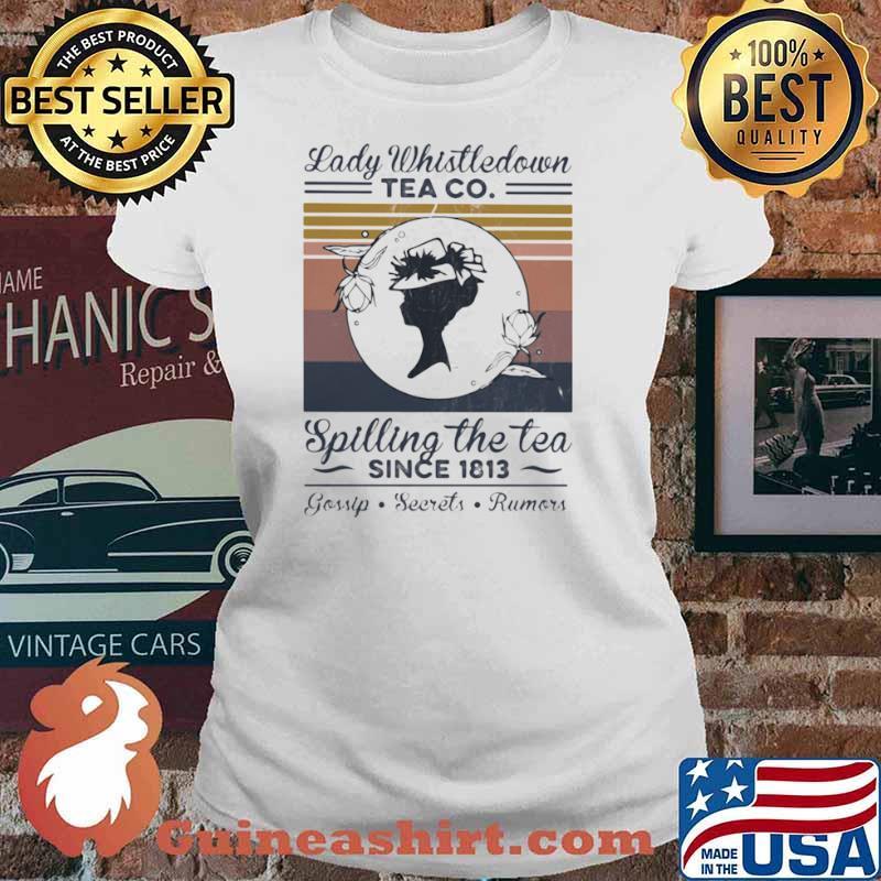 Lady Whistledown Tea Co Spilling The Tea Since 1813 Vintage Ladies tee