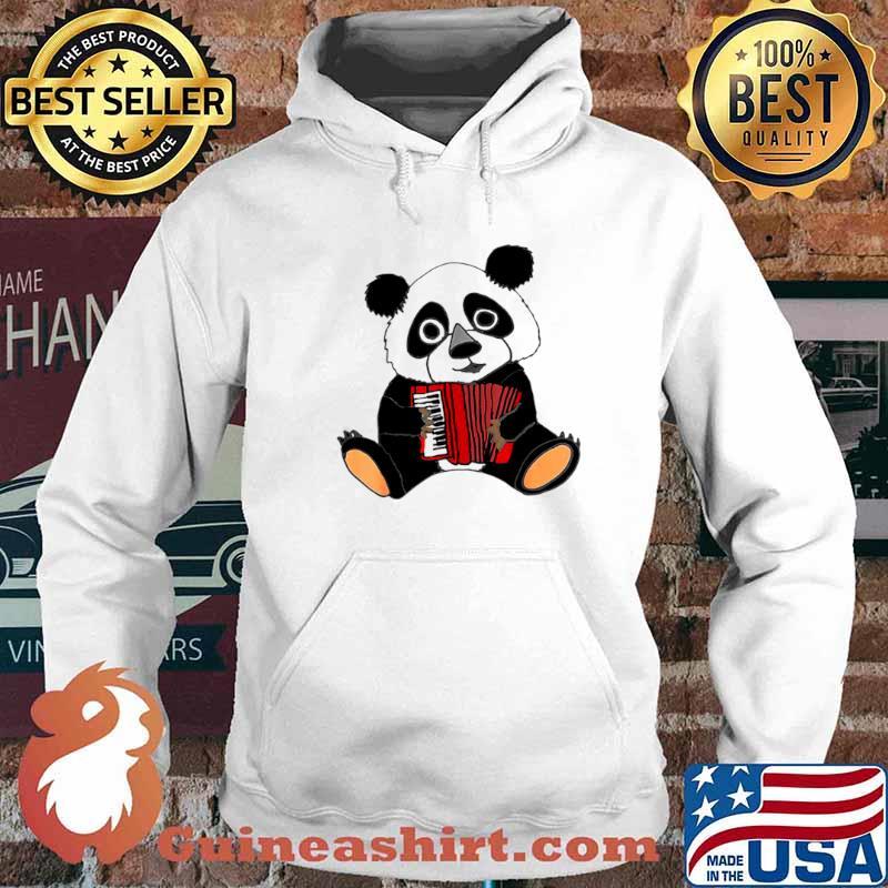 Smilemoreteesa Funny Panda Bear Playing Accordion Hoodie