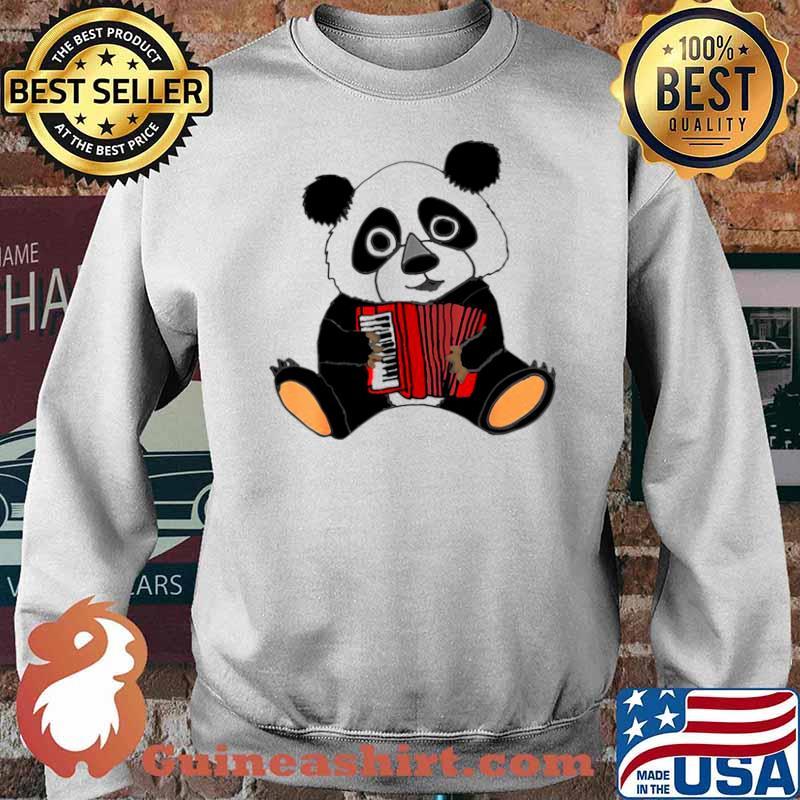 Smilemoreteesa Funny Panda Bear Playing Accordion Sweater