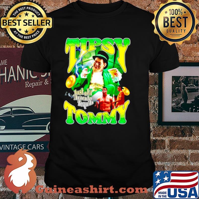 Tipsy Tommy just a lil avocado tequila Tom Brady dunk St.Patrick's day shirt
