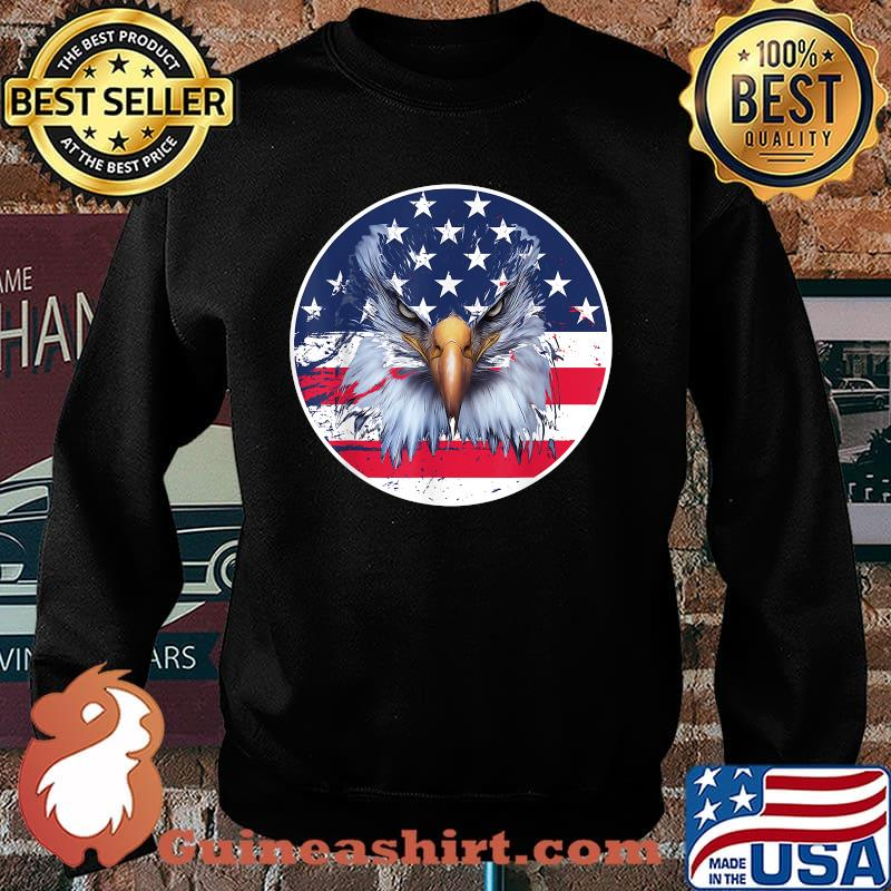 American Flag Patriotic Eagle 4th of July Shirt Sweater