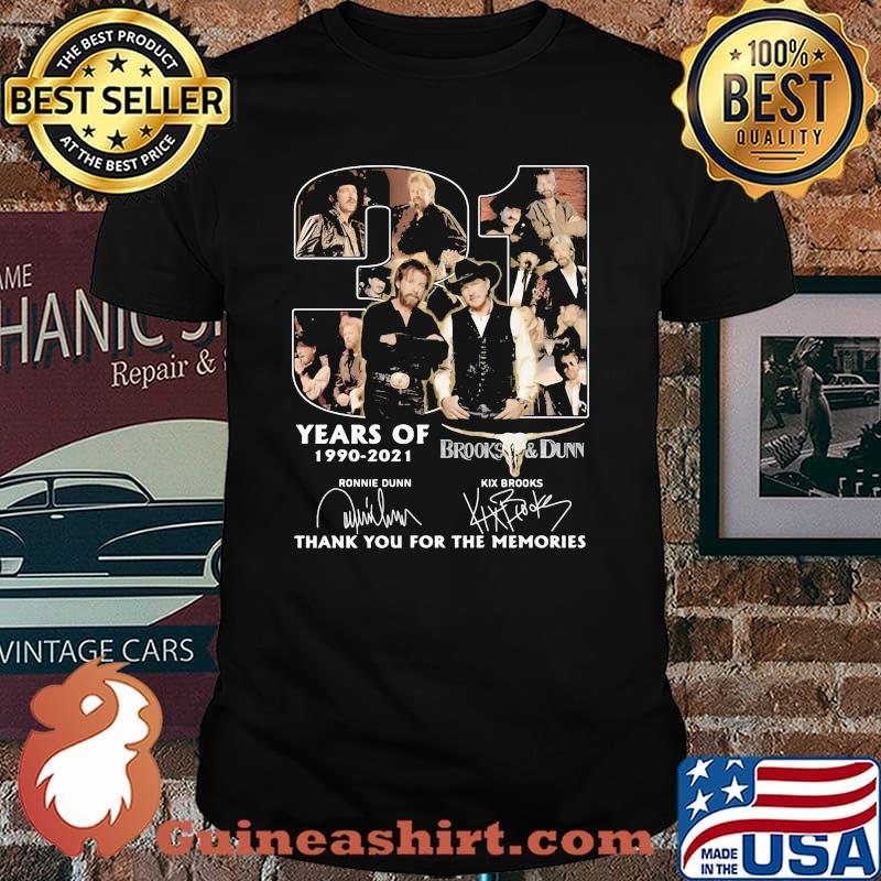 31 Years Of 1990 2021 Brooks And Dunn Thank You For The Memories Signature Shirt