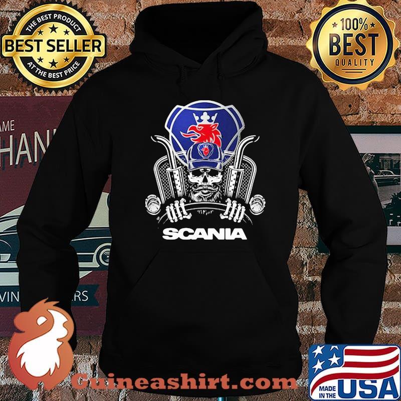 Skull With Logo Scania Shirt Hoodie