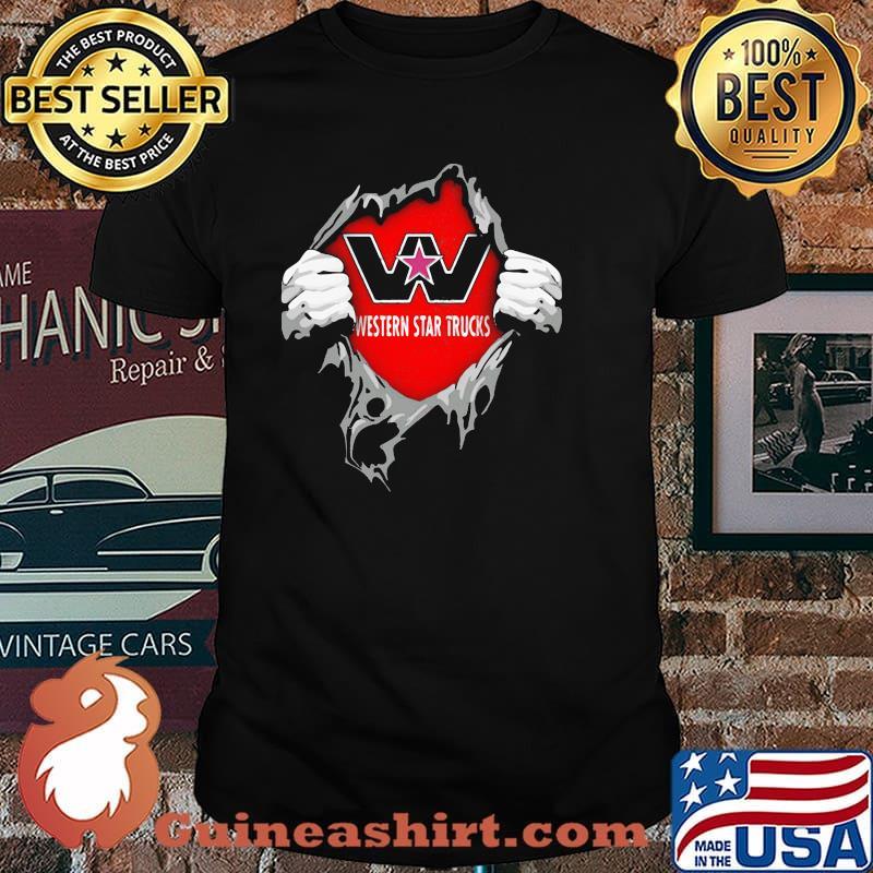 Superhero With Western Star Trucks Logo Shirt