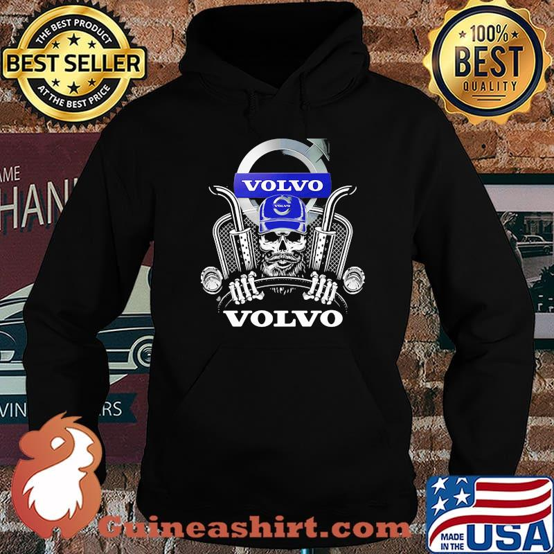 Skull With Volvo Fh16 750 Logo Shirt Hoodie