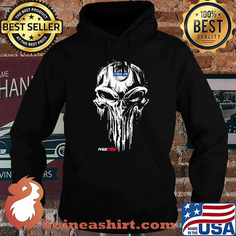 Punisher With Volvo Fh16 750 Logo Shirt Hoodie