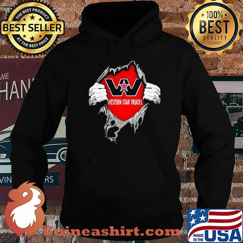 Superhero With Western Star Trucks Logo Shirt Hoodie