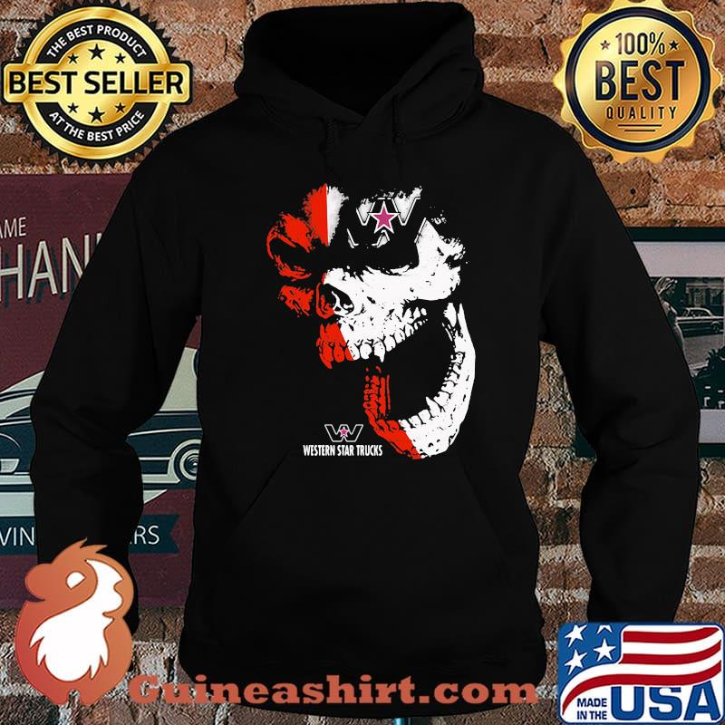 Skull With Western Star Trucks Logo Shirt Hoodie