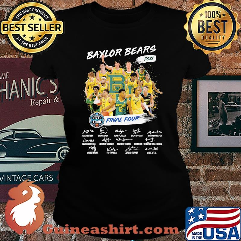 Baylor Beers 2021 Final Four Signature Shirt Laides tee