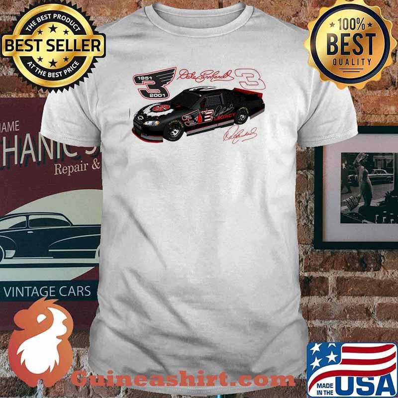 Dale Earnhardt Signature Nascar 1951 2001 Shirt