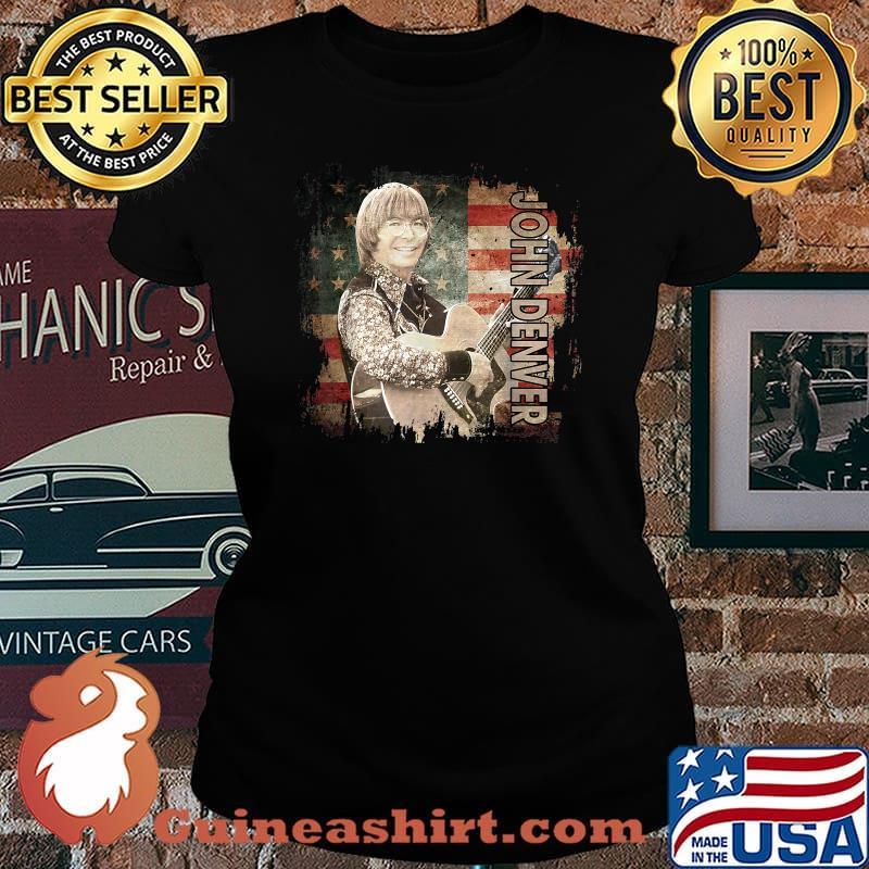 Graphic John Art Denver Vaporware Music Retro Flag American Shirt Laides tee