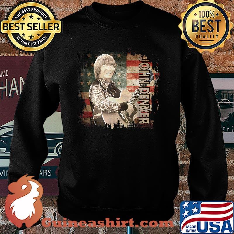 Graphic John Art Denver Vaporware Music Retro Flag American Shirt Sweater