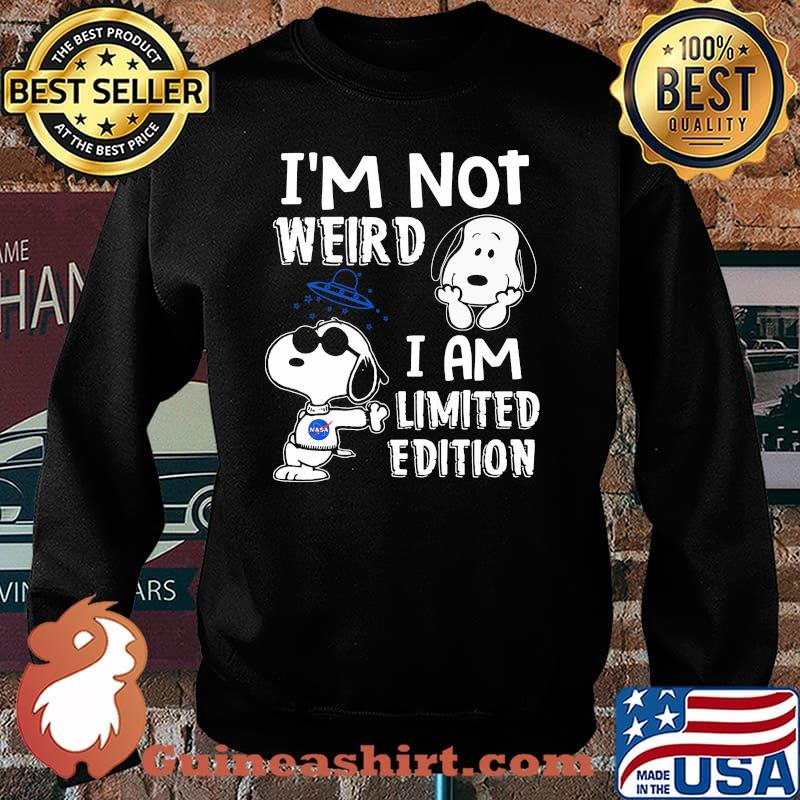 Im Not Weird I Am Limited Edition Snoopy Shirt Sweater
