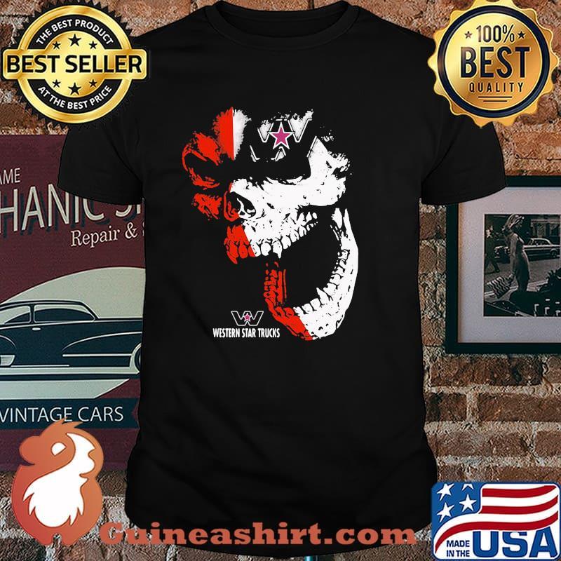 Skull With Western Star Trucks Logo Shirt
