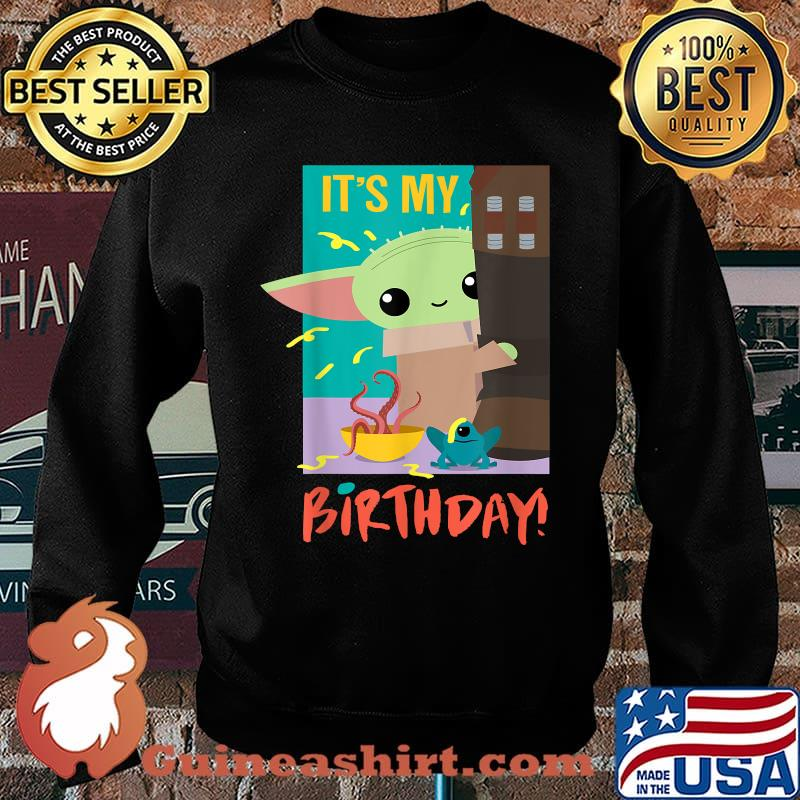 It's My Birthday Baby Yoda Star Wars The Mandalorian Shirt Sweater