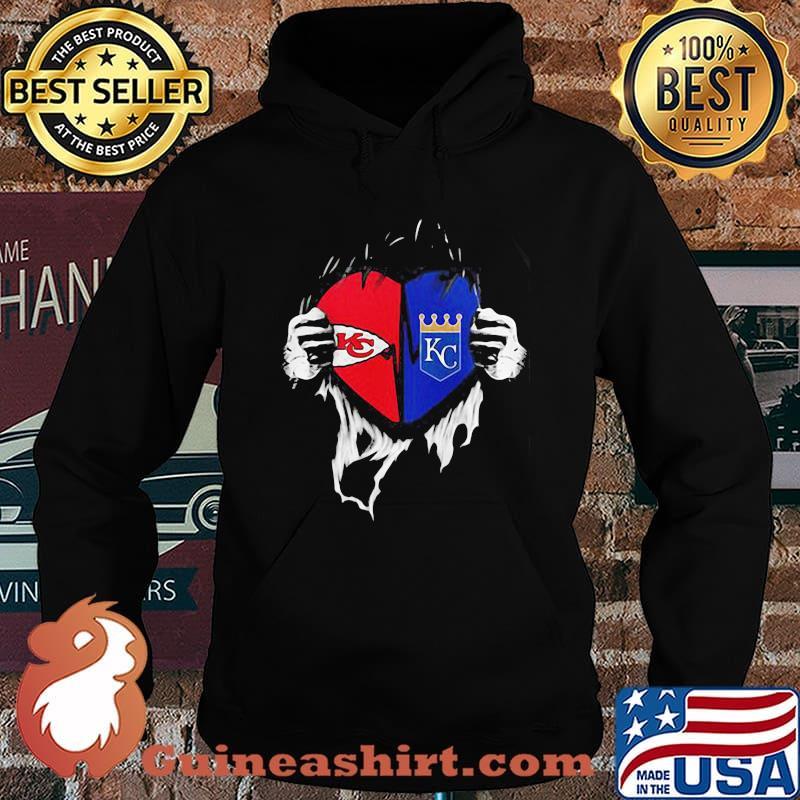 Kansas City Chiefs And Kansas City Royals Football Shirt Hoodie