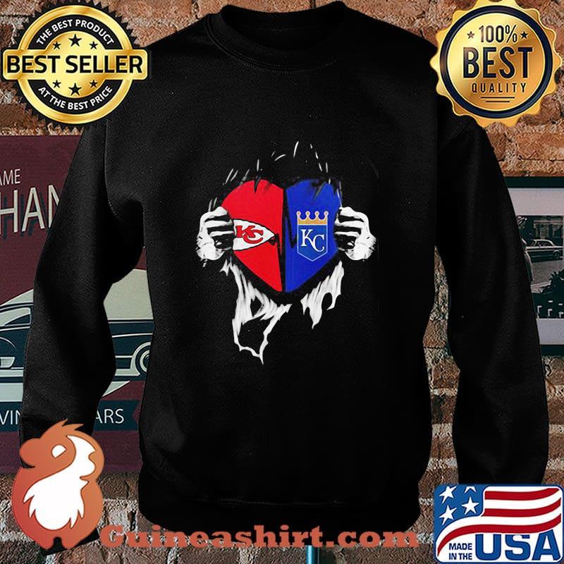 Kansas City Chiefs And Kansas City Royals Football Shirt Sweater