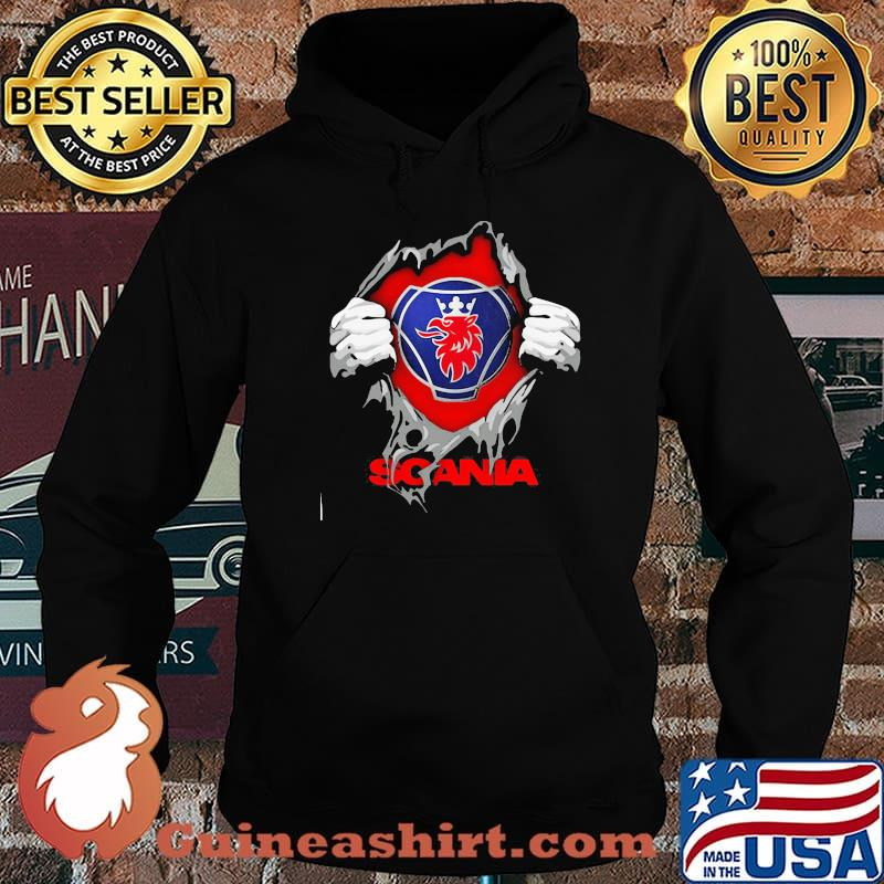 Superhero With Logo Scania Shirt Hoodie