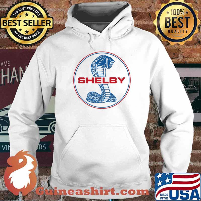 Mustang Shelby Blue And Red Logo Shirt Hoodie