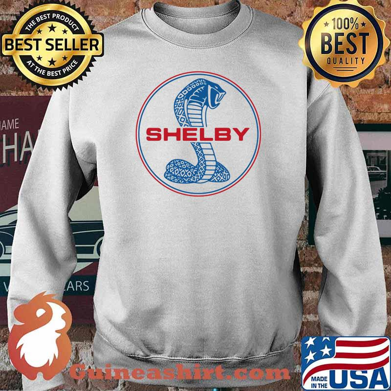 Mustang Shelby Blue And Red Logo Shirt Sweater